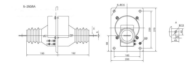 LFZB1-10电流互感器接线图